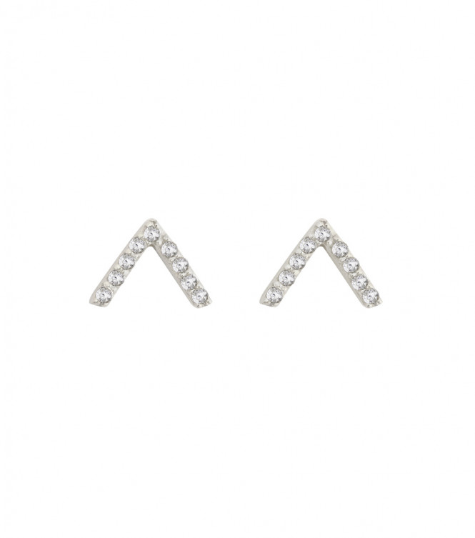 STRICT EARRING V SPARKEL SILVER