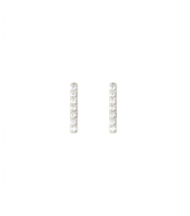 STRICT EARRING BAR SPARKEL SILVER