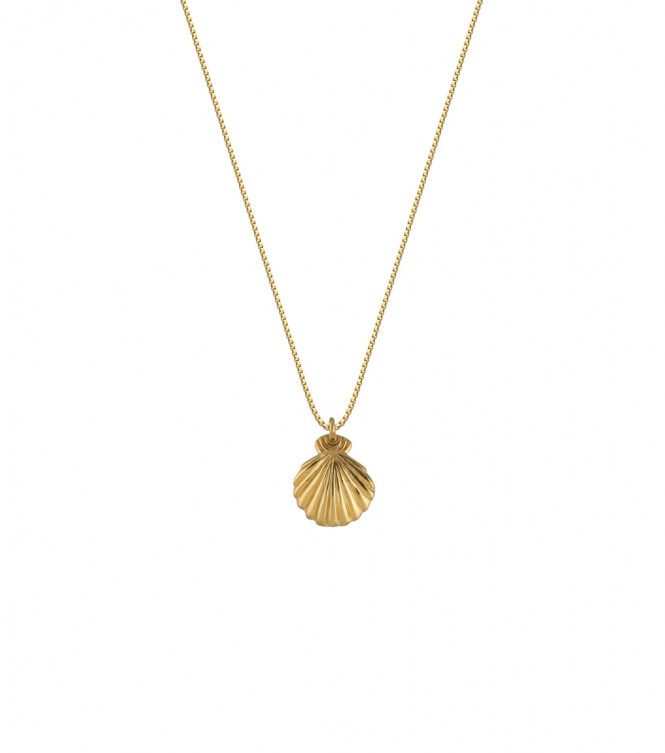 BEACHES SHELL NECKLACE GULD 58CM
