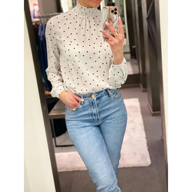 DOTTIES L/S SMOCK TOP