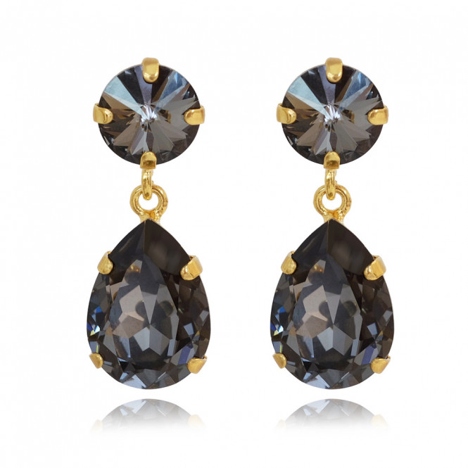 MINI DROP EARRING GULD SILVER NIGHT