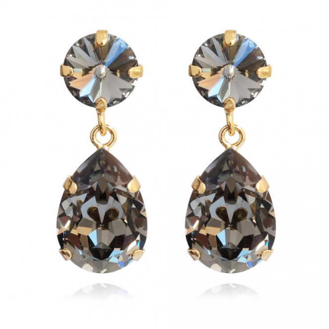 MINI DROP EARRING BLACK DIAMOND