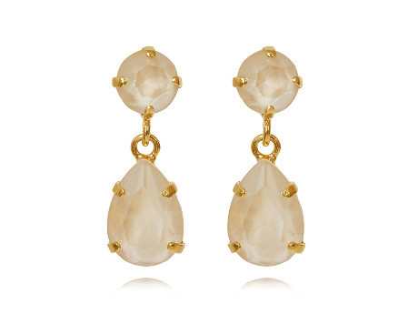 MINI DROP EARRING GULD IVORY CREAM