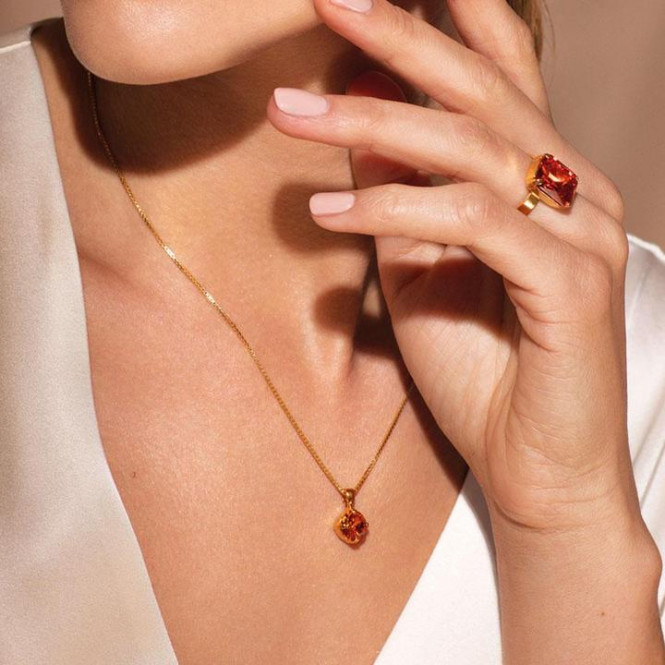 CLASSIC PETITE NECKLACE GULD TANGERINE