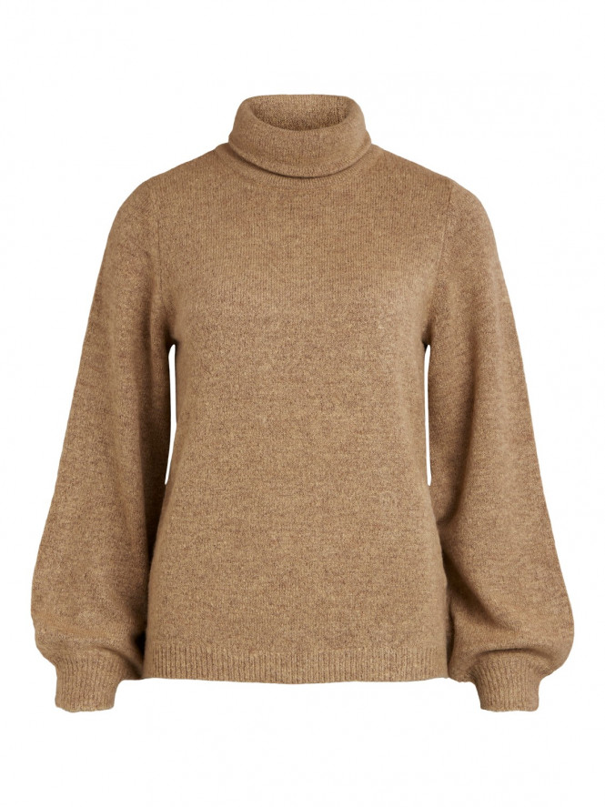 EVE NONSIA ROLLNECK PULLOVER BEIGE