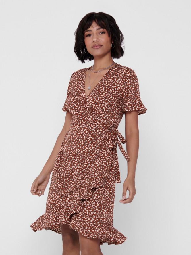 OLIVIA WRAP DRESS HENNA