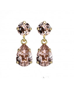 MINI DROP EARRING GULD VINTAGE ROSE